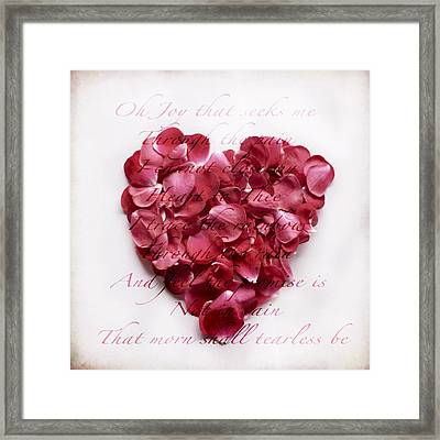 Heart Of Roses Framed Print by Linde Townsend