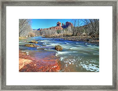 Heart Of Sedona 2 Framed Print by Donna Kennedy