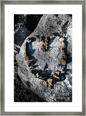 Heart Of Stone Framed Print by Jorgo Photography - Wall Art Gallery
