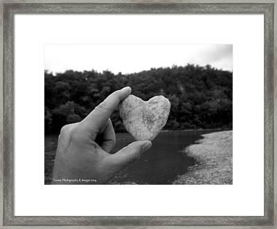 Heart Of Stone Framed Print