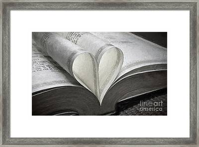 Heart Of The Book  Framed Print