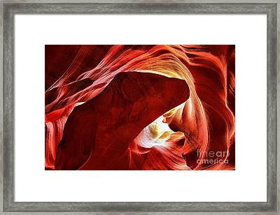 Heart Of The Canyon Framed Print by Adam Jewell
