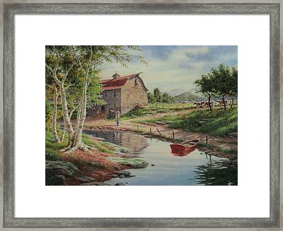 Heart Of The Country Framed Print by Barry DeBaun
