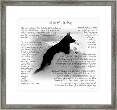 Heart Of The Dog Version Two Framed Print