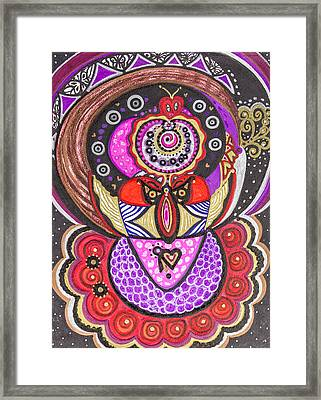 Heart Of The Feminine Framed Print