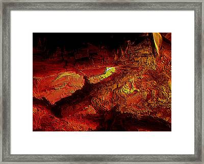 Framed Print featuring the photograph Heart Of The Fire by Erica Hanel