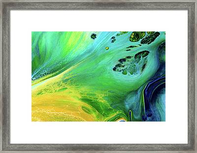 Heart Of The Land Abstract Framed Print