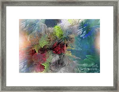 Framed Print featuring the painting Heart Of The Matter by Allison Ashton