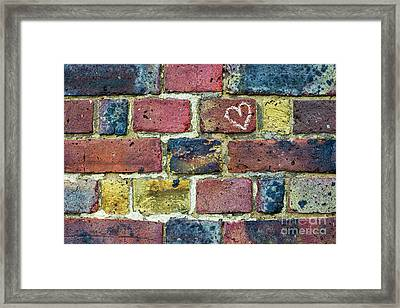 Heart Of The Matter Framed Print by Tim Gainey