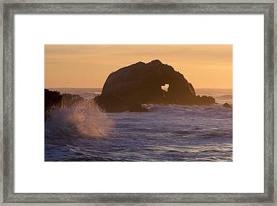 Framed Print featuring the photograph Heart Of The Ocean by Nathan Rupert