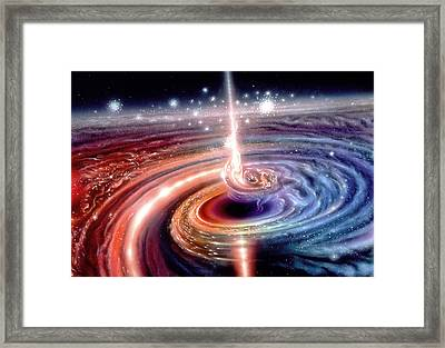 Heart Of The Quasar Framed Print by Don Dixon