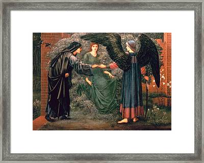 Heart Of The Rose Framed Print by Sir Edward Burne-Jones