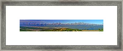 Heart Of The Sawatch W/ Peak Labels Framed Print