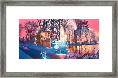 Heart Of The Sunset With Lost Father Framed Print by James McCarthy