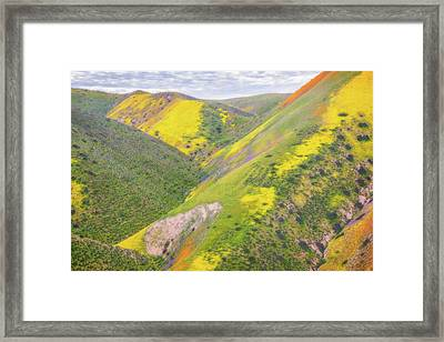 Framed Print featuring the photograph Heart Of The Temblor Range by Marc Crumpler