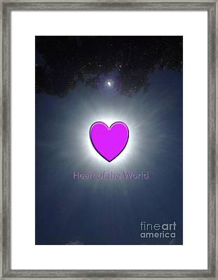 Heart Of The World Framed Print by Karen Moren