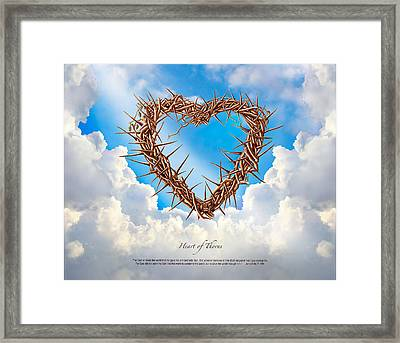 Heart Of Thorns Painting Framed Print