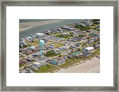 Heart Of Topsail Beach Framed Print