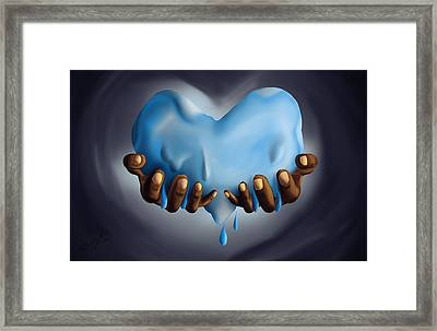 Heart Of Water Framed Print by Kenal Louis