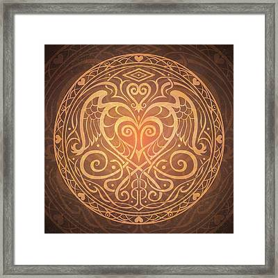 Heart Of Wisdom Mandala Framed Print