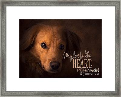 Framed Print featuring the digital art Heart Of Your Home  by Kathy Tarochione