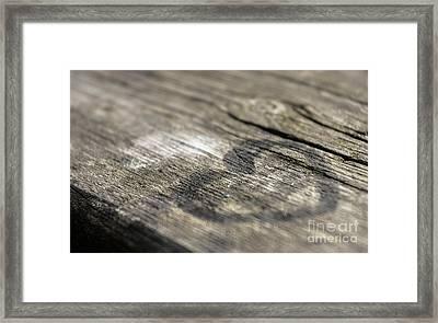 Heart On A Table Framed Print