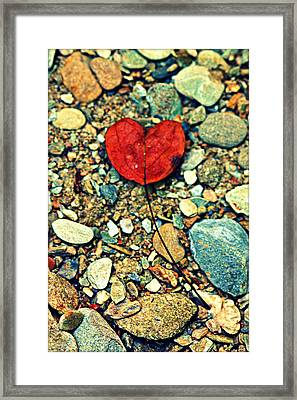 Heart On The Rocks Framed Print