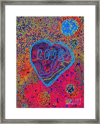 Heart On The Stage Framed Print