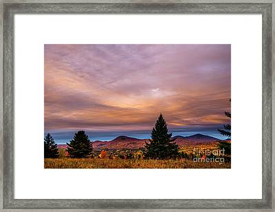 Heart Opeing In The Sky Framed Print