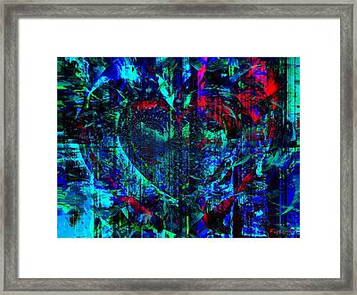 Framed Print featuring the painting Heart Potential by Fania Simon