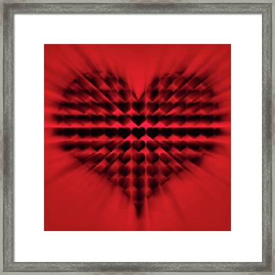Heart Rays Framed Print by Wim Lanclus