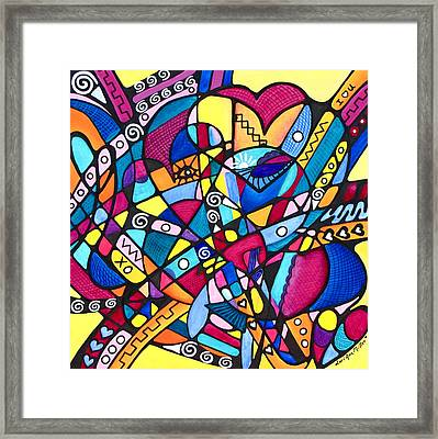 Heart Reunion Framed Print
