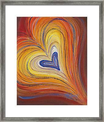 Heart Revelation Explosion Framed Print by Marissa Sievert