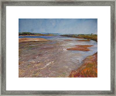 Confluence Of The Heart  Framed Print by Helen Campbell