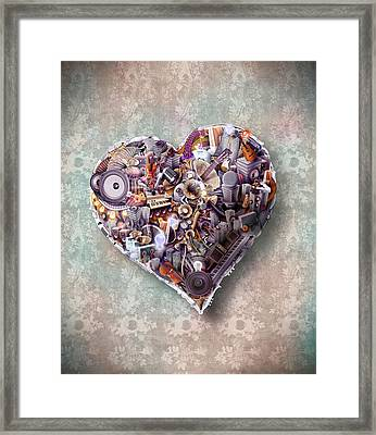 Heart Framed Print by Robert Palmer
