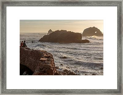 Heart Rock Framed Print by Kate Brown