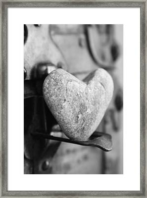 Our Love Is Like A Rock Solid Framed Print