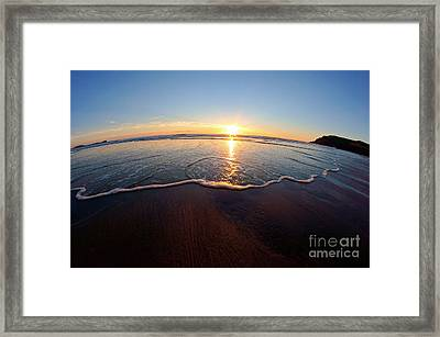 Heart Shape Wave Framed Print