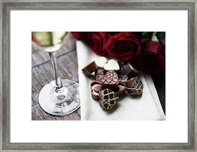 Heart Shaped Chocolates  Framed Print