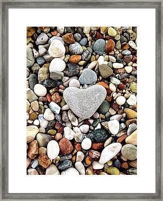Heart-shaped Stone Framed Print