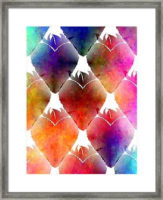 Heart Shaped Strawberry Framed Print