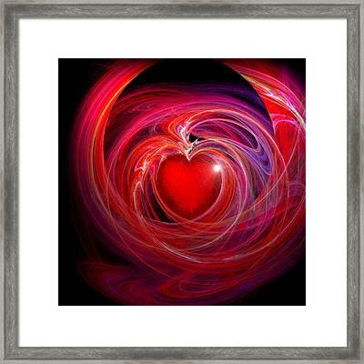 Heart Star Framed Print