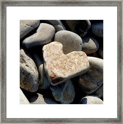 Heart Stone Framed Print by Lainie Wrightson