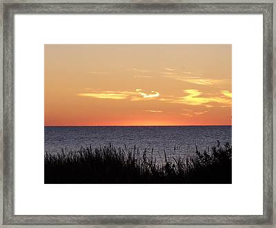 Heart Sunset Framed Print