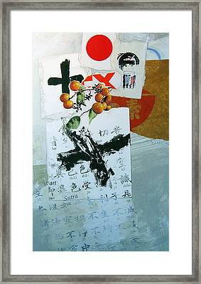 Framed Print featuring the painting Heart Sutra by Cliff Spohn