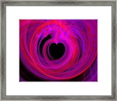 Heart Swirls Framed Print