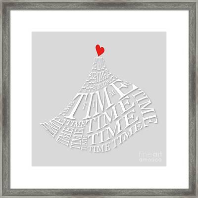 Yes Heart Time Framed Print by Johannes Murat