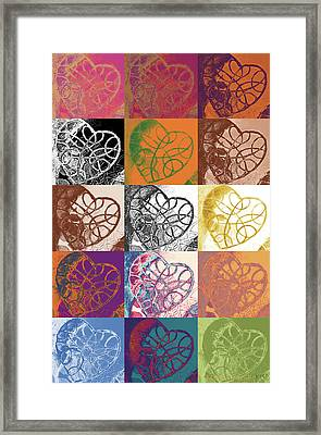Heart To Heart Rendition 5x3 Equals 15 Framed Print