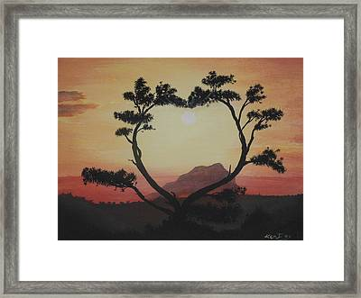 Heart Tree Framed Print by Ken Day