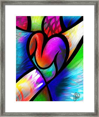 Heart Vectors Framed Print